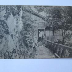 C.P. PESTERA LUI BETHLEN RESTAURANTUL PE TAMPA CU STAMPILA BETHLENGROTTE - Carte Postala Transilvania dupa 1918, Necirculata, Fotografie, Brasov