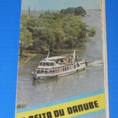 HARTA DELTA DUNARII PERIOADA COMUNISTA. TEXT FRANCEZA (00660