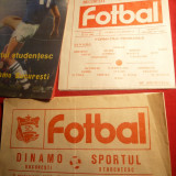 3 Programe Meci : Sportul Studentesc- Dinamo 1987 ,1988 ,1989