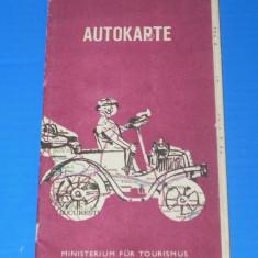 ROMANIA AUTOKARTE HARTA AUTO1976 - LIMBA GERMANA (00656