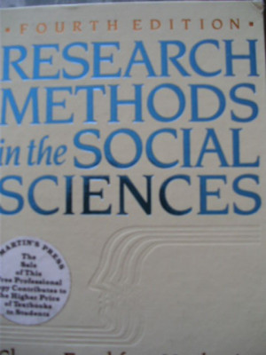 D.NACHMIAS;CH. FRANKFORT-NACHMIAS - RESEARCH METHODS IN THE SOCIAL SCIENCES foto