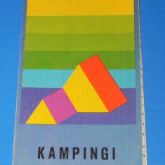 ROMANIA RUMUNIA KAMPINGI - HARTA CAMPINGURILOR 1978 (00657