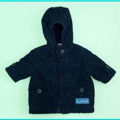 Geaca de iarna, catifea reiata, captusita, IMPIDIMPI _ baieti | 6 luni | 68 cm, Marime: Alta, Culoare: Bleumarin