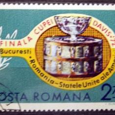 Romania 1972, Finala Cupei Davis, LP 809, stampilat - Timbre Romania