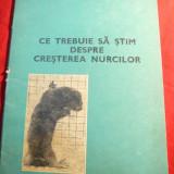 V.Sarbu - Ce trebuie sa stim despre cresterea Nurcilor - Ed. 1979 - Carti Zootehnie