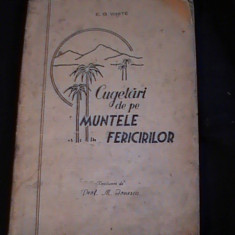 CUGETARI DE PE MUNTELE FERICIRILOR-E. G. WHITE- - Carte Proverbe si maxime