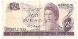 NOUA ZEELANDA 2 DOLARI 1975-77 U