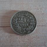 2 francs 1958 Elvetia, argint