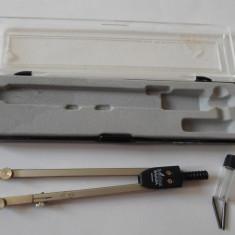COMPAS CU MINA SI REZERVE, IN CUTIE ORIGINALA, BODEN BAVARIA - L149-20 - Instrumente desen