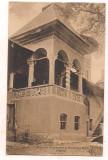 #carte postala(ilustrata)-VALCEA-BAILE GOVORA -Pridvorul lui Brancoveanu la Manastirea Horezu