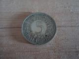 5 mark 1964 F, Germania, argint