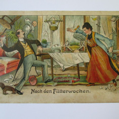C.P. LITOGRAFIE DIN ANII 1900, Circulata, Printata, Europa