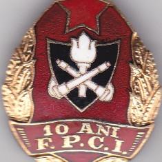 Insigna rara Pompieri 10 ani F.P.C.I