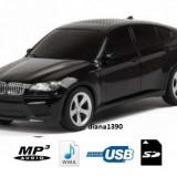 Boxa portabila MP3 player si radio masina BMW x6 NEGRU - Aparat radio
