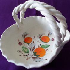 FRUMOS COS / FRUCTIERA DIN CERAMICA, REALIZAT SI PICTAT MANUAL - MODEL DEOSEBIT - L149-19 - Arta Ceramica
