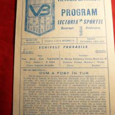 Program -Meci Fotbal Victoria-Sportul Studentesc 1987-1986 - f. rar !