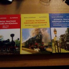 ISTORICUL TRACTIUNII FEROVIARE DIN ROMANIA ( 3 volume ) -- Serban Lacriteanu, Ilie Popescu - Carti Transporturi