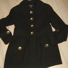 Paltonas superb JUNKER marimea M, 70% lana model minunat !!! - Palton dama, Marime: M, Culoare: Negru