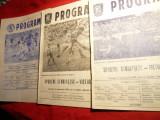 3 Programe -Meci Fotbal -Sportul Studentesc- Victoria  1987-1986 -1989