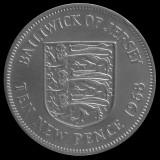 JERSEY KM#33 - 10 New Pence 1968, Europa