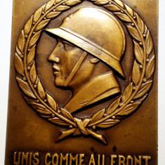 5.058 PLACHETA FRANTA UNIS COMME AU FRONT XIII CONGRES NATIONAL DE L'UNION NATIONALE DES COMBATTANTS LILLE 1932 R. COIN BRONZ 67/50, 5mm, Europa