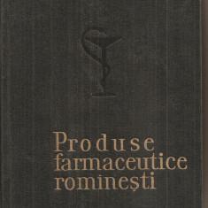 (C5451) PRODUSE FARMACEUTICE ROMANSTI, SUB INGRIJIREA OFICIULUI CENTRAL FARMACEUTIC, 1964 - Carte Farmacologie
