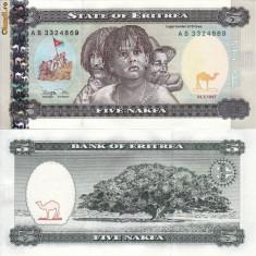 ERITREA 5 nakfa 1997 UNC!!! - bancnota africa
