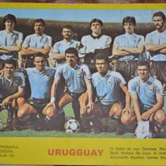 FOTO ECHIPA NATIONALA DE FOTBAL URUGUAY - C.M. ITALIA '90