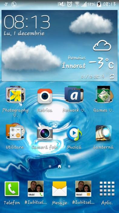 Samsung Galaxy S4 alb intact foto mare