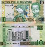 GAMBIA 10 dalasis ND 2013 UNC!!!