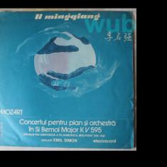 Li Mingqiang si Orchestra Filarmonicii din Iasi, dirijor Emil Savin, Mozart, Concertul pt pian si orchestra in Si Bemol Major KV 595; disc vinil/vinyl, electrecord
