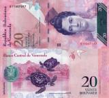 VENEZUELA 20 bolivares 2011 UNC!!!