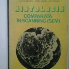 HISTOLOGIE COMPARATA IN SCANNING(SEM) -- N.MANOLESCU, I.DICULESCU, V. COTOFAN / Editura CERES-1982