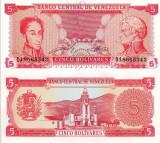 VENEZUELA 5 bolivares 1989 UNC!!!