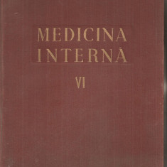 (C5452) MEDICINA INTERNA DE N.GH. LUPU, VOL VI, SANGELE, GLANDELE ENDOCRINE, ALERGIA, EDITURA MEDICALA, 1959