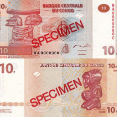SPECIMEN CONGO 10 francs 2003 UNC!!! - bancnota africa