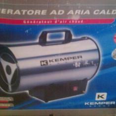 Aeroterma (tun caldura / suflanta aer cald/gaz butan-propan), KEMPER 65311 inox, Electric