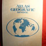 Atlas Geografic General - Ed. 1974, cartonat, format mare