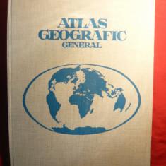 Atlas Geografic General - Ed. 1974 ,cartonat ,format mare