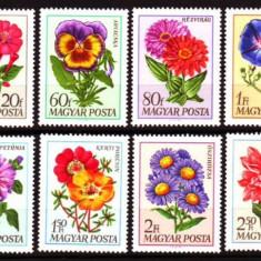 UNGARIA 1968, Flora, serie neuzata, MNH, Nestampilat