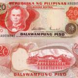 FILIPINE 20 piso 1974-85 UNC!!! - bancnota asia