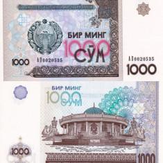 UZBEKISTAN 1.000 sum 2001 UNC!!! - bancnota asia