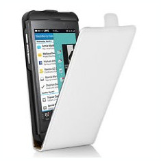 Husa flip alba Blackberry Z 10 - Husa Telefon Blackberry, Toc