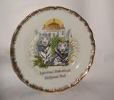 Farfurie decorative din portelan pt. perete cu tigru Bavaria 19cm