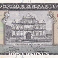EL SALVADOR 2 colones 1972 AUNC!!!