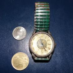 Ceas de mana Sonic Quartz-bratara metalica elastica-functional