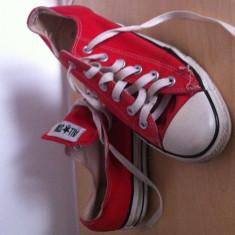 Tenisi Converse all star culoarea rosie unisex sport - Tenisi barbati Converse, Marime: Alta, Culoare: Rosu, Textil