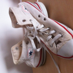 Tenisi Converse culoare alba sport unisex textil - Tenisi barbati Converse, Marime: Alta