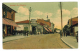 1909 - CAMPINA, Prahova, street, shops - old postcard - used - 1911, Circulata, Printata