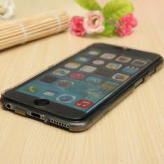 "Husa flip silicon transparenta fumurie Iphone 6 4,7"" + folie protectie ecran + expediere gratuita Posta"
